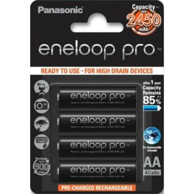 Аккумуляторы Panasonic Eneloop Pro BK-3HCCE/4BE 2450 mAh 4 шт, AA