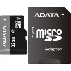 Карта памяти 32GB ADATA Premier MicroSDHC Class 10 UHS-I (U1) + SD Adapter (AUSDH32GUICL10-RA1)