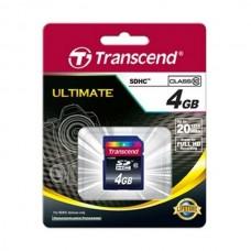 Карта памяти Transcend SDHC 4GB class 10 133x TS4GSDHC10
