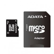 Флеш карта 4GB A-DATA microSDHC Class 4 (SD адаптер) (AUSDH4GCL4-RA1)