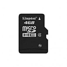 Флеш карта 4GB Kingston microSDHC Class 4 (SDC4/4GBSP)