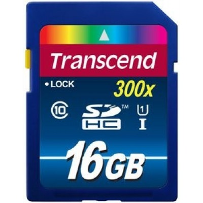 Карта памяти 16GB Transcend SDHC Class 10 UHS-1 Premium (TS16GSDU1)