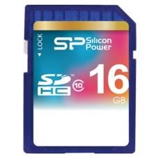 Флеш карта SD 16GB Silicon Power SDHC Class 10 (SP016GBSDH010V10)