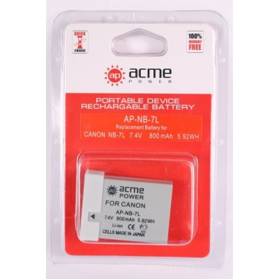 Аккумулятор AcmePower AP-NB-7L для PowerShot G10, PowerShot G11, PowerShot G12, PowerShot SX 30 IS