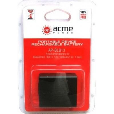 Аккумулятор AcmePower AP-DMW-BLB13E / DMW-BLB13 / DMC-G1, DMC-G2, DMC-G10, DMC-GF1, DMC-GH1, DMC-G1K, DMC-G1R, DMC-G1A, DMC-G2K, DMC-G2R, DMC-G10K, DMC-GF1C-K, DMC-GF1K-K, DMC-GH1K, DMC-GH1W, DMC-G1KEB-K, DMC-G1KEB-R, DMC-G1KEG-A, DMC-G1KEG-K.