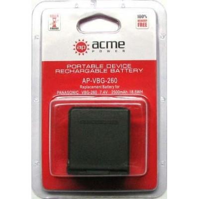 Аккумулятор AcmePower AP-VW-VBG260 / VW-VBG260E / VW-VBG260E-K
