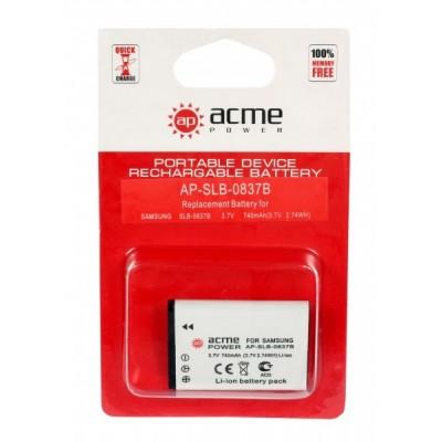 Аккумулятор AcmePower AP-SLB-0837B / SLB-0837(B) ДЛЯ L70, L83T, L85T, L201, L301, SL201, NV8, NV10,