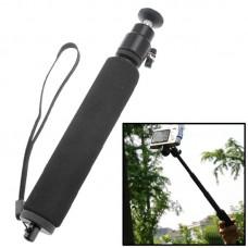 Монопод с регулируемым креплением для видеокамер и GoPro черный