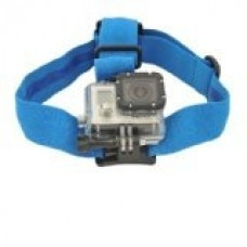 Крепление на голову Zebra для камер GoPro синее