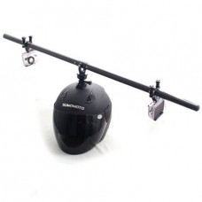 Крепление Zebra роторное на шлем для камер GoPro HERO2+ / HERO3+ / HERO4+ карбоновое