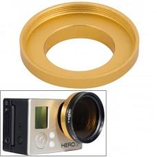 Адаптер Zebra для UV фильтра для камеры GoPro алюминиевый желтый