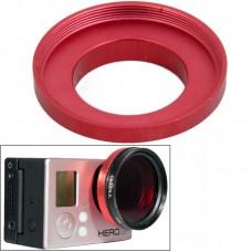 Адаптер Zebra для UV фильтра для камеры GoPro алюминиевый красный