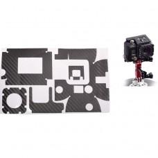 Наклейка декоративная на кейс карбоновое волокно Gopro hero 3