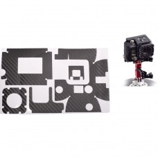 Наклейка декоративная на кейс карбоновое волокно Gopro hero 3+