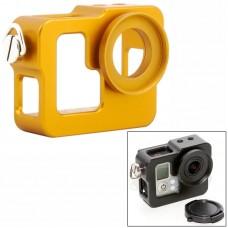 Бокс защитный Zebra для камеры GoPro алюминиевый желтый