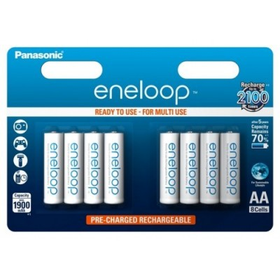 Аккумуляторы Panasonic Eneloop BK-3MCCE/8BE 1900 mAh, 8 шт, AA