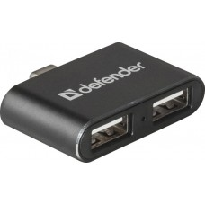 Универсальный USB разветвитель Defender Quadro Dual USB3.1 TYPE C - USB2.0 x2порта