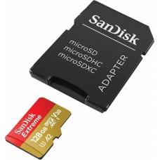 Карта памяти 128GB SanDisk Extreme MicroSDXC Class 10 UHS-I + SD адаптер (SDSQXA1-128G-GN6MA)