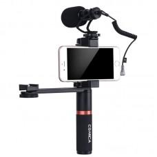 Микрофон для смартфона CoMica CVM-VM10-K4 с рукояткой и планкой