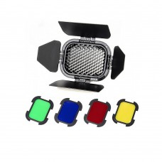 Шторки с набором фильтров Godox BD-07 для AD200