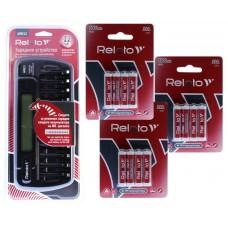 Зарядное устройство Relato APRC22 + Ni-MH AAA1000 x 12шт
