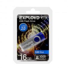 Флеш-накопитель USB 16GB Exployd 530 синий (EX016GB530-Bl)