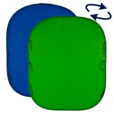 Складной фон хромакей Lastolite LC5987, 180x210 см (Синий / Зеленый)