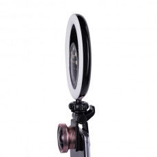 Кольцевая селфи-лампа FST SML-032 RGB (Черная)