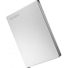 Внешний диск HDD Toshiba 1TB Canvio Slim Silver 2.5 (HDTD310ES3DA)