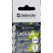 Батарейка алкалиновая Defender LR03-04B AAA 4 шт
