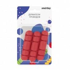 Зажим для проводов Smartbuy SBO-957r 8.2х2 см для 4 проводов (3 шт) красный
