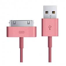 Кабель USB Smartbuy 30-pin Apple (iK-412c pink)