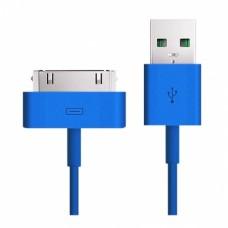 Кабель USB Smartbuy 30-pin Apple iK-412c blue