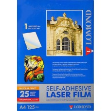 Пленка Lomond самоклеящаяся для печати прозрачная матовая A4 25 листов (28100030)