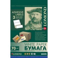 Самоклеящаяся бумага Lomond A4 3 деления 50 листов (2100015)