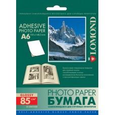 Фотобумага самоклеящаяся Lomond Glossy A6 25 листов (2413003)