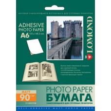 Фотобумага самоклеящаяся Lomond Matte A6 25 листов (2213003)