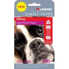 Фотобумага Lomond Glossy односторонняя A6 200 г/м2 50 листов (0102167)