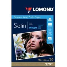 Арт бумага Lomond атласная тепло-белая 270 г/м2 A6 20 листов (1106201)