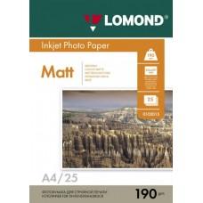 Фотобумага Lomond Matte A4 190 г/м2 25 листов (0102036)