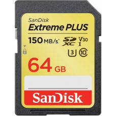 Карта памяти 64GB SanDisk Extreme Plus SDXC Class 10 (SDSDXW6-064G-GNCIN)