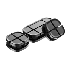 Держатель для проводов Baseus Cross Peas Cable Clip Черный