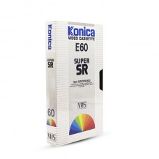 Видеокассета VHS Konica E60 Super SR