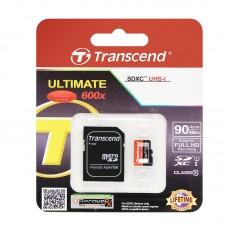Карта памяти 64GB Transcend MicroSDXC Class 10 UHS-I + SD адаптер (TS64GUSDU1)