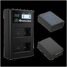 Двойное зарядное устройство Powerextra NP-W126 + 2 аккумулятора