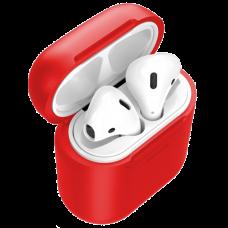 Чехол с беспроводной зарядкой Baseus для Airpods Red