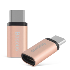 Переходник Baseus Sharp microUSB - Type-C Rose Gold