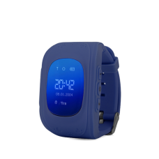 Детские GPS часы трекер Wonlex Q50 Dark Blue