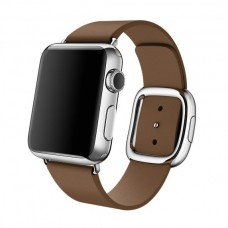 Ремешок кожаный Modern Buckle для Apple Watch 38/40 mm Коричневый