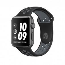 Ремешок спортивный Dot Style для Apple Watch 38/40 mm Черно-Серый